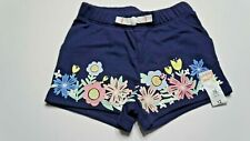 Jumping Bean Infant Girls Springtime Flower Shorts Size 12 Months Nwt Navy Blue