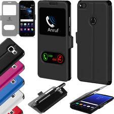 Huawei Flip Cover Handy Tasche Klapptasche Schutz Hülle Case Bumper Wallet Etui