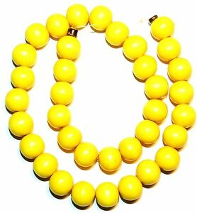 """W487 Bright Yellow 12mm Round Smooth Wood Spacer Beads 16"""""""