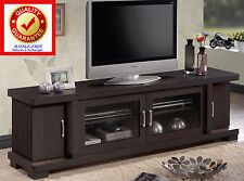TV Stands for Flat Screens 46 55 60 up to 75in with Under Cabinet & Glass Doors