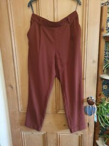 Primark orange (papaya/ burnt/ amber) cargo trousers size 14, polyester