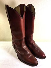 Frye Vintage men's Burgundy Brown Tall Leather Pull On Cowboy Boot Size US 9 D
