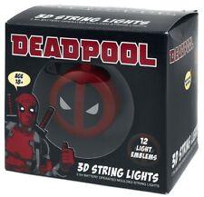 Officiel Marvel Deadpool Logo 3D String Lights Party Light New in Box