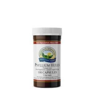 Nature's Sunshine Psyllium Hulls - 100 Capsules - High in Fibre