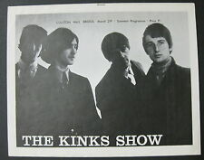 The KINKS Colston Hall Bristol 1965 UK ORG CONCERT PROGRAM Ray Davies BEAT VG++