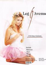 SEXY PINK FAIRY 4 PC COSTUME Leg Avenue Adult VALENTINE Size-Most w/Wings & Wand