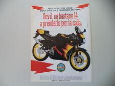 advertising Pubblicità 1991 MOTO BENELLI DEVIL 50