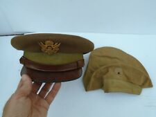 Original WW2 US Army British Made Airforce Officer's Cap with 2 Wool Covers