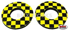 ProBMX Flite Style Old School BMX Grip Donuts - Pairs - Black & Yellow