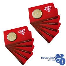 2007 RAM Unc 50c Royal 60th Diamond Wedding Anniversary Coin On Card LOT OF 10s