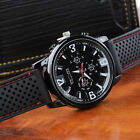 Luxury Military Pilot Army Outdoor Style Silicone Mens Wrist Watch PA