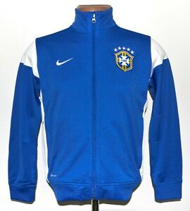 BRAZIL 2011/2012 TRAINING FOOTBALL JACKET  JERSEY NIKE SIZE L BOYS