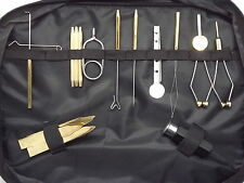Fly tying tool kits, 11pcs. in a bag with handle  ( from Fishing4Trout )