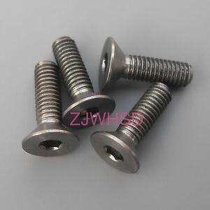 4pcs M3 x 10 Titanium Ti Screw Bolt Allen hex Socket Flat head / Aerospace Grade