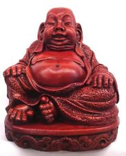 Large Happy Laughing Buddha Statue Buddhism Antique Finish Chinese Art Decor