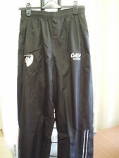 "LEICESTER TIGERS BLACK RAIN PANTS 42"" WAIST/29"" INSEAM BY COTTON TRADERS NEW"