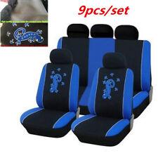 9pcs/set Blue Car Seat Covers Salamander Pattern Full Set Seat Cover Protectors
