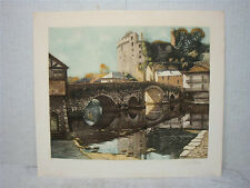 "GEORGES PLASSE - Signed Art Print From Prior 1948 - Size: 27.5"" x 24.5"""