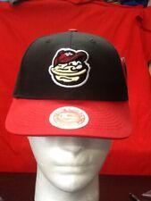 New Youth MODESTO NUTS Hat Adjustable black red OSFM CAP MiLB BASEBALL MINOR