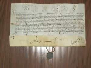 RARE Intact Papal Bull Vellum Manuscript w/ Seal, Pope Benedict XIV, c.1740-58