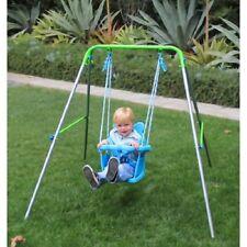 Swing Set Toddler Kids Baby Seat Foldable Frame Playground Play Set Playset Gift