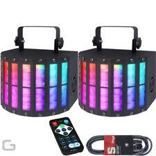 2x QTX Derby9 27W RGBYWAP UV LED DJ DMX Beam Derby Kinta 9 Colour Effect Light