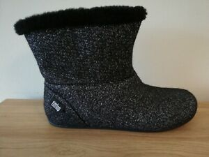 Fitflop Shearling Slippers / Boots Black - 5/38