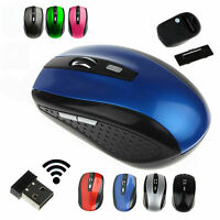 Wireless Cordless Mouse Mice Optical Scroll For PC Laptop Computer & USB 2.4GHz