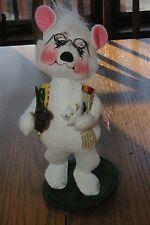 "8"" Annalee Polar Bear coffee cup pipe & paper Darling!"