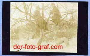Foto, Alpenkorps, auf Wache mit Hund, um 1917 !!! AF2549