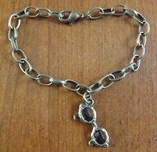 bracelet bronze 18 cm lunette 28x11 mm