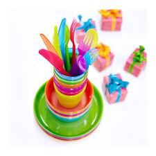 36-Piece IKEA KALAS Baby Kid Dinning Set Plastic Party Bowls Mugs Plates Cutlery