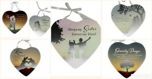 Reflections Of The Heart Mirror Wall Hanging Plaque Family Friend Keepsake Gift