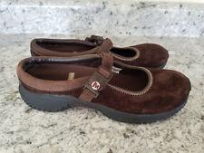 Merrell Women's Size 9 Encore MJ Leather Espresso Brown Ortholite Mary Jane Shoe