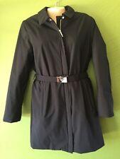 NWT $1155 Prada Women's Long Winter Coat Wind Stopper Jacket  Medium 44 Thermal