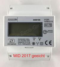 Drehstromzähler Bi-Direktional MID17 GEEICHT 100A mit S0 1000imp Ausgang, NEU