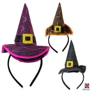 Halloween Witches Headband Head Bopper Kids Adult Party Hair Accessory G1566 UK