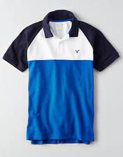 AMERICAN EAGLE OUTFITTERS Flex Colorblock Large Polo **Brand New with Tag**