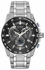 Titanium Citizen Eco-Drive Perpetual Chronograph AT Wrist Watch AT4010-50E Alarm