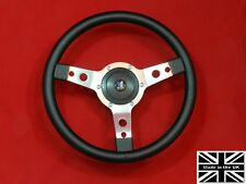 "13"" Classic Leather Steering Wheel & Hub. Fits Triumph Tr4-5-6"