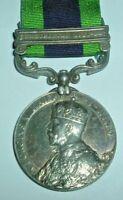 MEDALS-ORIGINAL INDIAN GENERAL SERVICE MEDAL 1908 'WAZERISTAN 1921-24 SEPOY KHAN