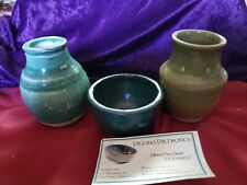 3 small Hand Crafted Studio Pottery items made by Julianne Herz Smith