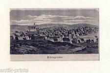 Elbingerode - original Holzstich aus Görges 1881