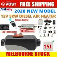 12V 5KW Diesel Air Heater Tank Vent Silencer Duct LCD Remote Car Motorhome