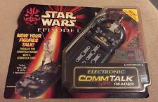Star Wars episodio I lector electrónico Comm Talk & figura Sellado/Nuevo