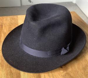 Christys Hats London Epsom Fur Felt Fedora - Blue 57cm