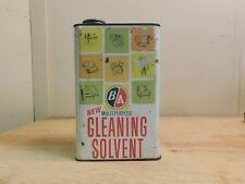 Vintage B/A British American Oil Co. Cleaning Solvent 1 Gallon Can