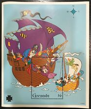 Grenada- Disney, Mickey & Minnie Attacked by Pirates Stamp- Souvenir Sheet MNH
