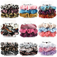 SCRUNCHIE HAIR SCRUNCHY SILK SATIN COTTON SUEDE PONYTAIL HOLDER MULTIPACKS