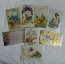 c1908-11 Antique Easter Greeting Postcard Lot of 8